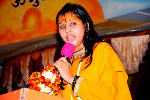 Hindu girls should pelt stones at Muslim boys; caste given by God: Sadhwi Balika Saraswati