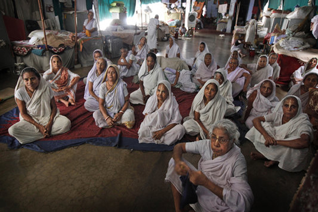 Yoga camp for widows in Vrindavan