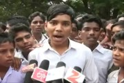 Students protest to press for their demand to change school timings